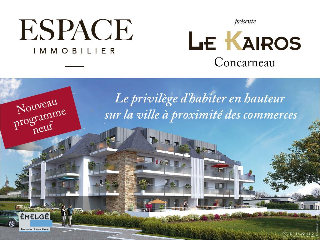 A vendre à Concarneau appartement neuf Type 3 programme
